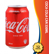 Coca Cola Can 330ml, 12 Pieces