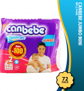 Canbebe Jumbo Mini No. 2, 3-6 KG 72-Pack