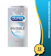 Durex Invisible Extra Sensitive Condoms, Pack of 10